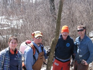 Amanda, Zach, Herb and Jared at State Natural Areas Workday