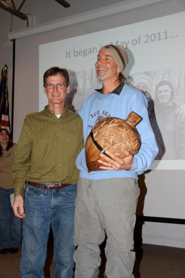 Lindsay and Paul accepting Land Steward of the Year Award