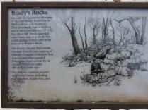 ... spur trail to Brady's Rocks