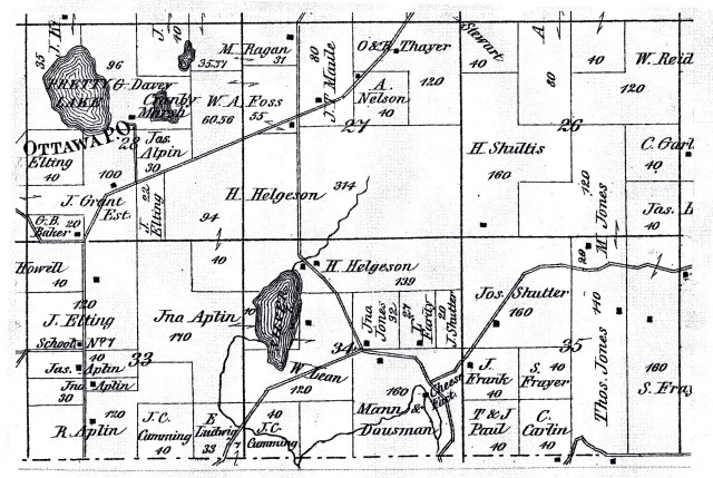 "1873 -- A closer look at ""Silver Lake"", which was eventually renamed to Ottawa Lake"