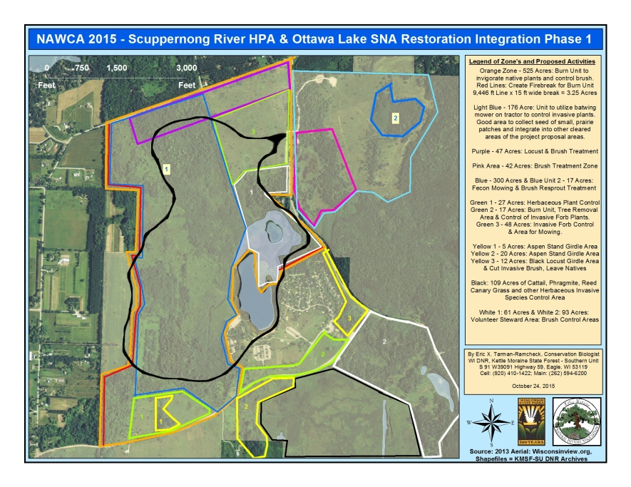 NAWCA 2015 Scuppernong River HPA & Ottawa Lake SNA Restoration - Phase 1 Survey Route