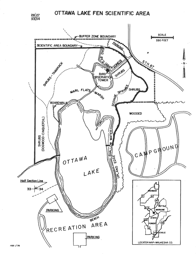 The Ottawa Lake Scientific Area before it was designated a State Natural Area