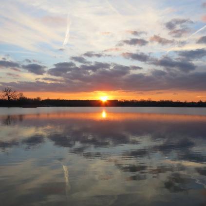 Ottawa Lake sunset.